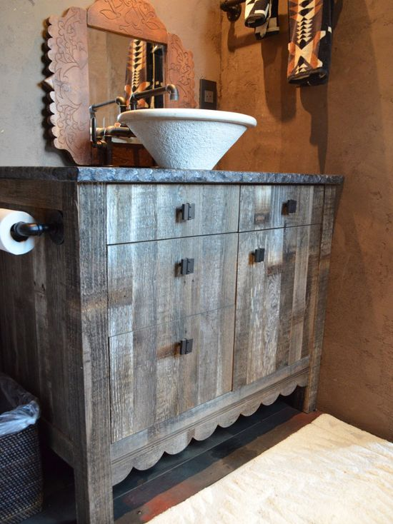 Wood Bathroom Cabinet Sink Residential, Tesuque, NM