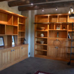 Residential Library with rolling library ladder, Tesuque, NM